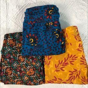 LuLaRoe OS leggings. Size 10 Bundle of 3. NWOT